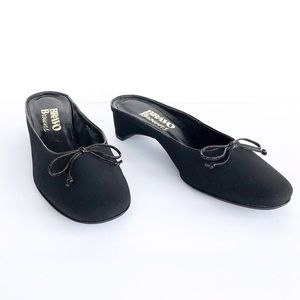 Browns Patent Leather Trimmed Mules